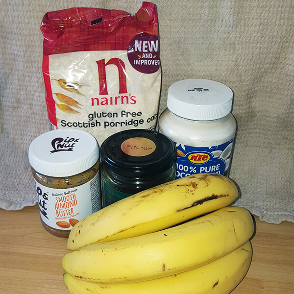 Banana and Oat Cookie Ingredients